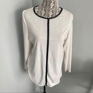 5 for $30 🔑 White Black Striped Long Sleeve Shirt
